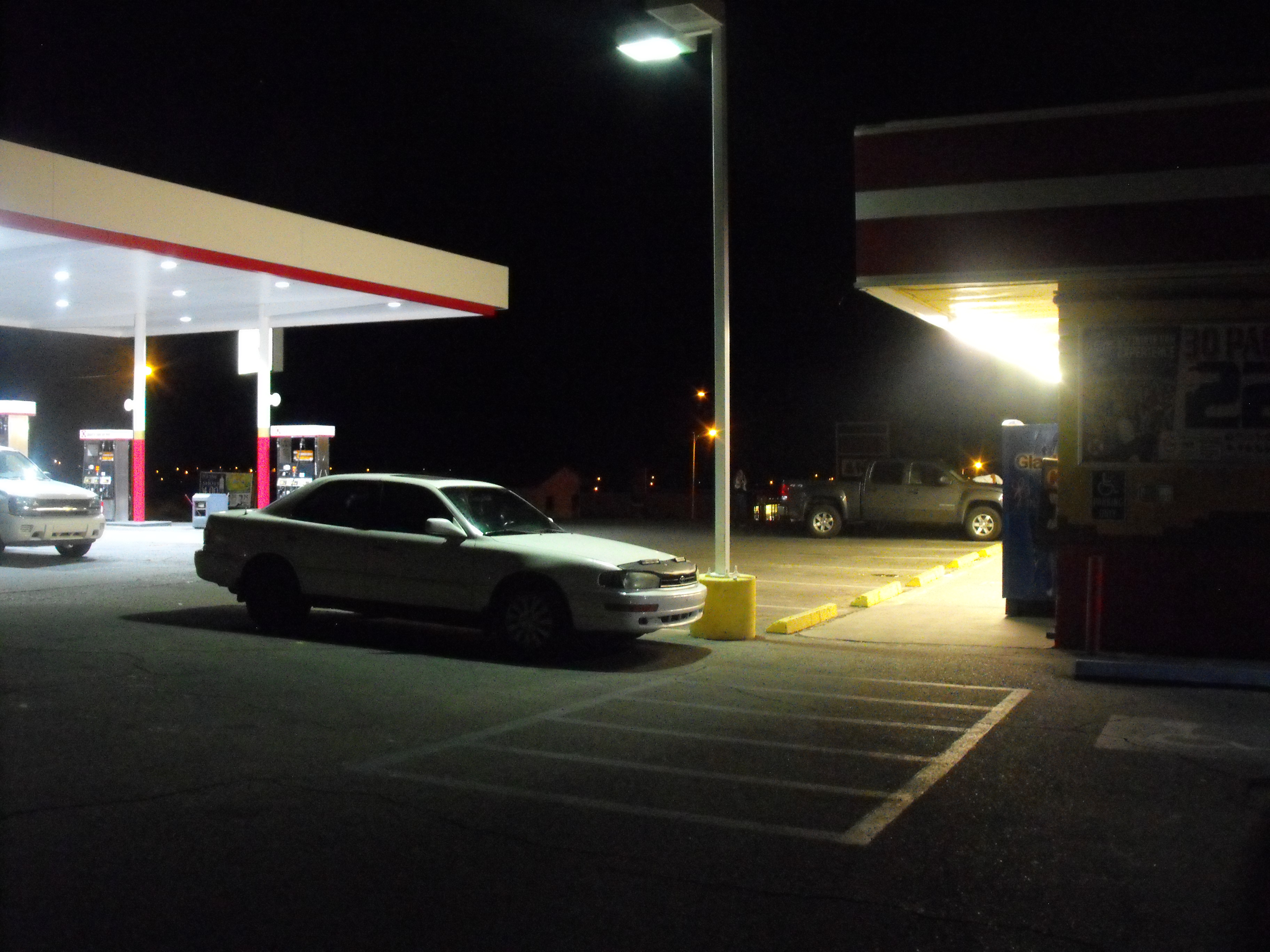 The Real Story Of Gas Stations Takes Place At Night Electrica In The Desert