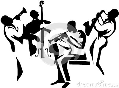 jazz-quartet-stylized-musicians-silhouettes-upright-bass-saxophone-trumpets-35194202