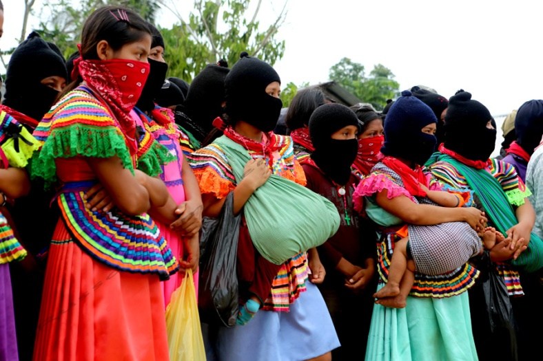 Zapatista Youth and Women Among those Gathered in La Realidad