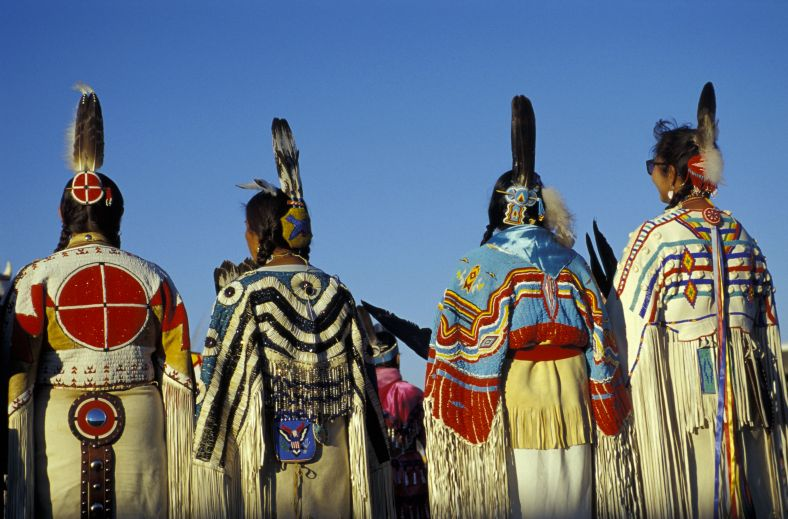 Lakota Traditional Dancers, North American Indian days, Browning, Montana, USA