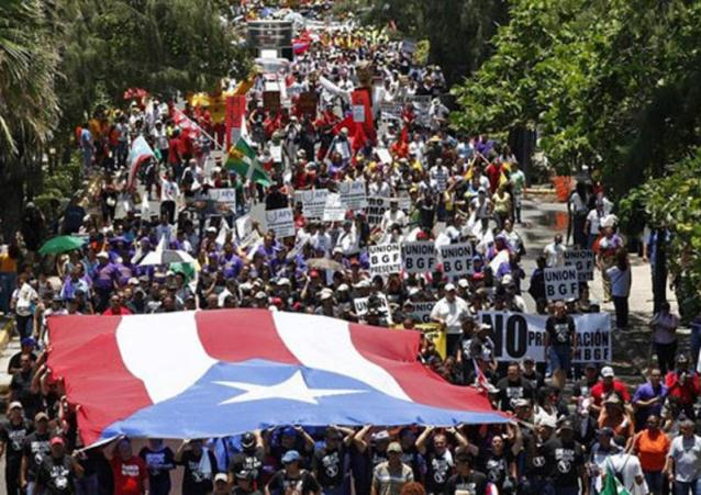 Puerto-Rico-demo-for-independence-and-workers-rights